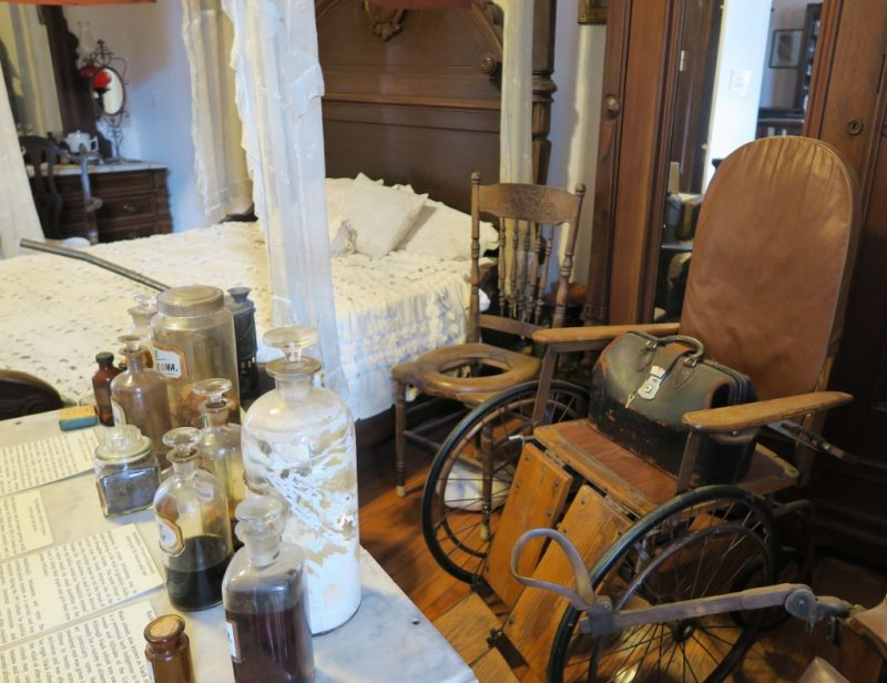 Sick Room with Medical Supplies Pharmacy Museum New Orleans