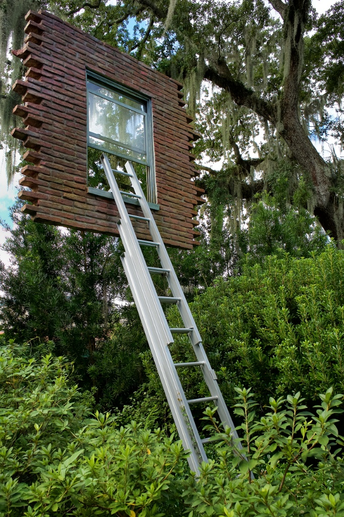... Window with Ladder too Late for Help by Erlich NOMA sculpture garden New Orleans ...