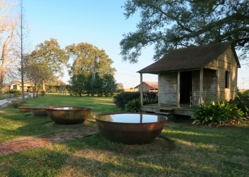 Cabin and Sugar Cane Kettles St Joseph Plantation