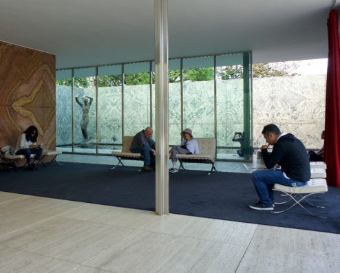 Barcelona Chair Mies Van Der Rohe Pavilion Barcelona
