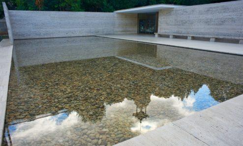 Reflecting Pool Mies Van Der Rohe Pavilion Barcelona
