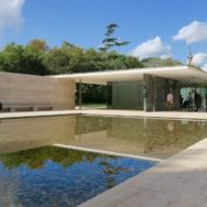Reflecting Pool and Mies Van Der Rohe Pavilion Barcelona