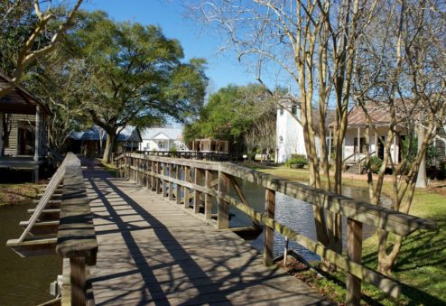 View of Bridge Acadian Village Lafayette