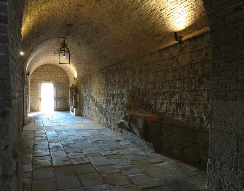 Arched Tunnel Montjuic Castle Barcelona Spain