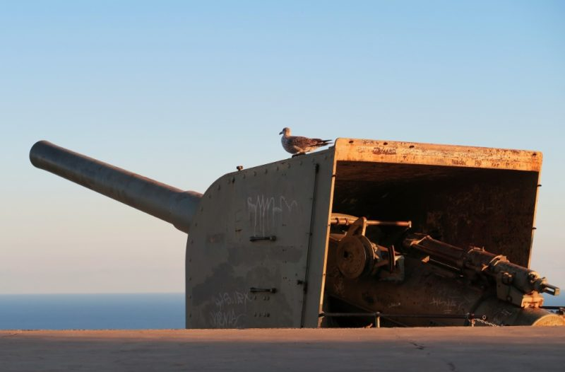 Artillery Gun Montjuic Castle Barcelona Spain