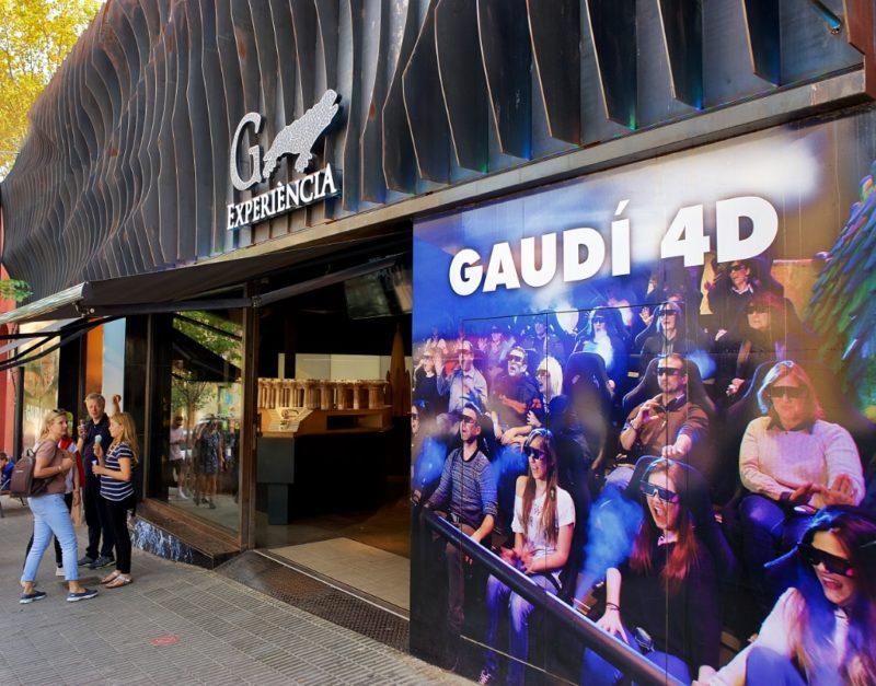 Entrance Gaudi Experience Barcelona