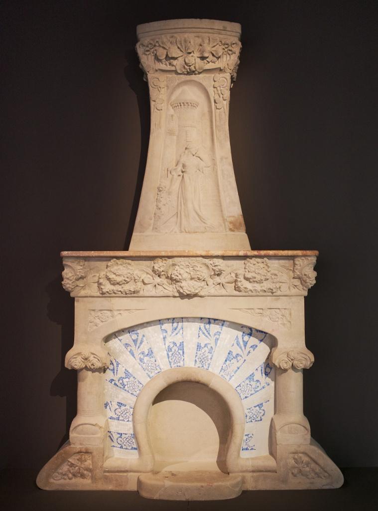 Fireplace by Lluis Domenech i Montaner MNAC Barcelona