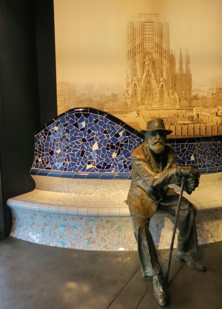 Gaudi Statue Gaudi Experience Barcelona