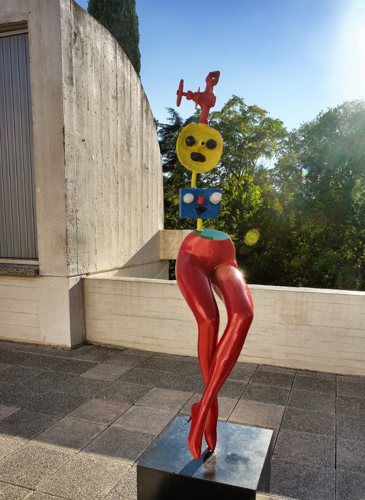 Girl Escaping Fundacio Joan Miro Barcelona