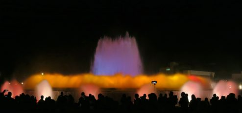 Magic Fountain scene 3 Barcelona