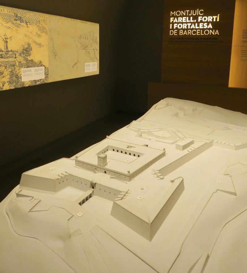 Model of Montjuic Castle Barcelona Spain