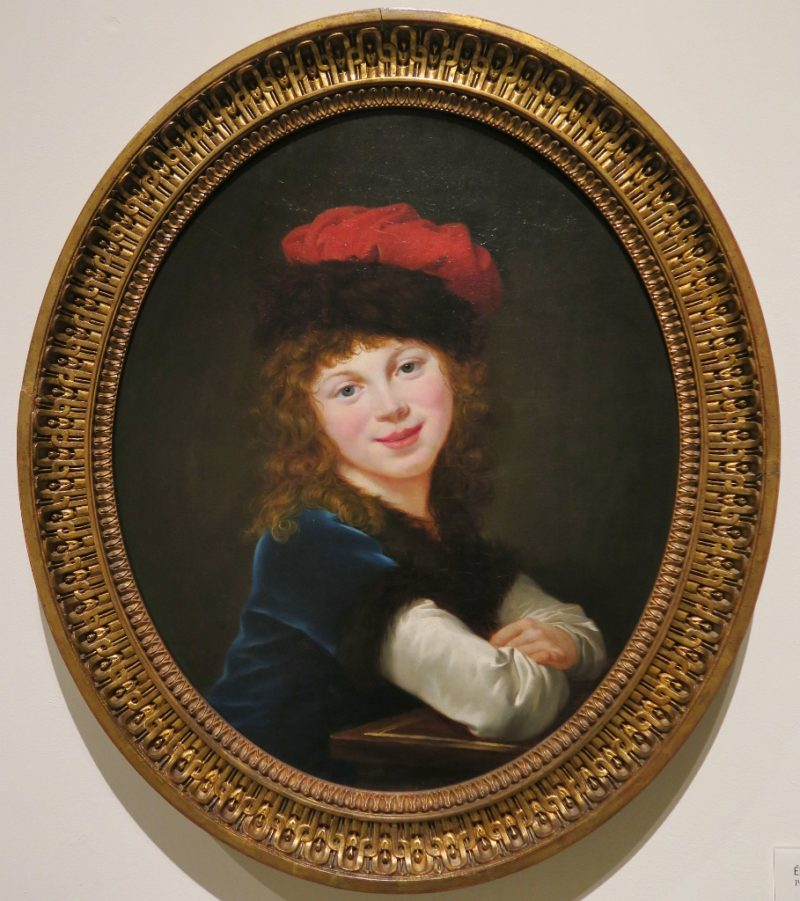 Portrait of a Girl by Le Brun MNAC Barcelona