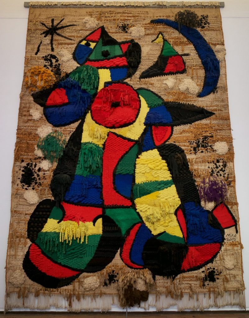 Tapestry of the Fundacio by Joan Miro Barcelona