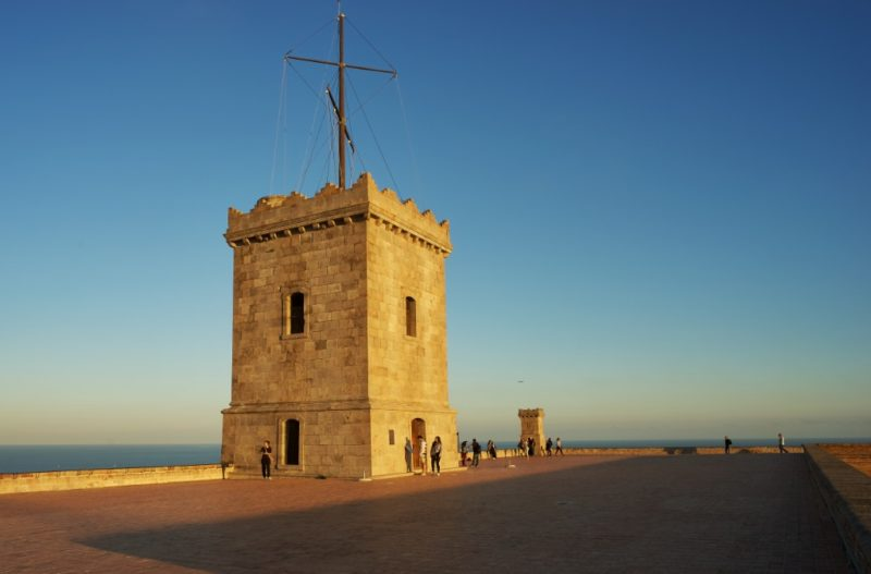 Tower at Montjuic Castle Barcelona Spain