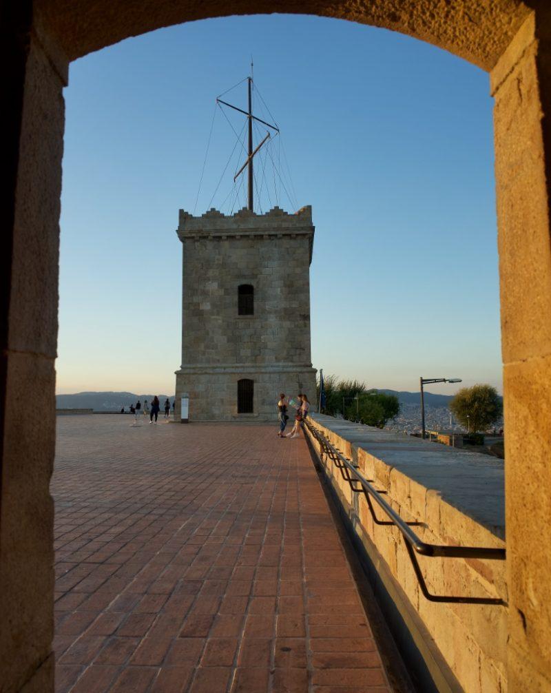Tower of Montjuic Castle Barcelona Spain