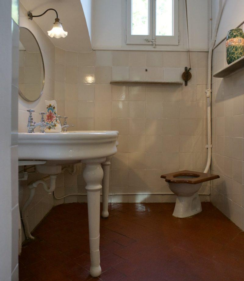 Bathroom Gaudi House Museum Barcelona Spain