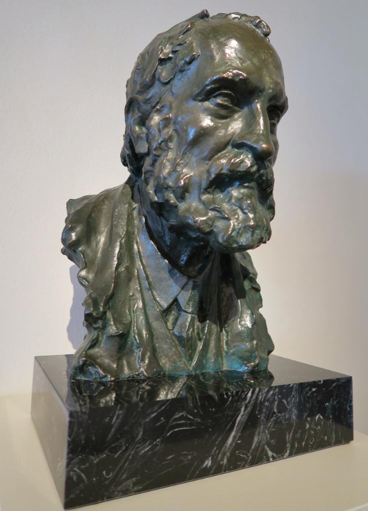 Bust of Gaudi by Joan Matamala Gaudi House Museum Barcelona Spain