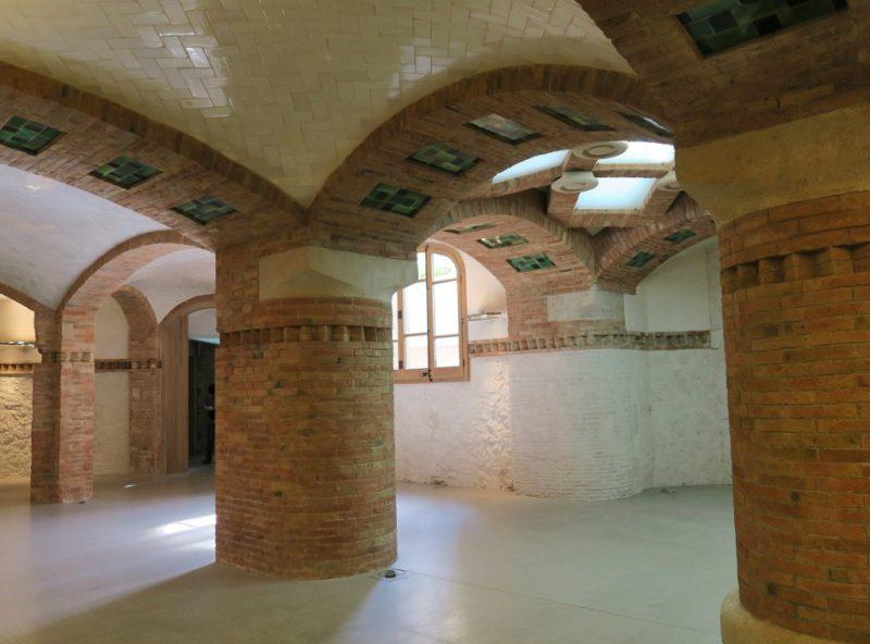 Columns Hypostyle Room Sant Pau Art Nouveau Site Barcelona