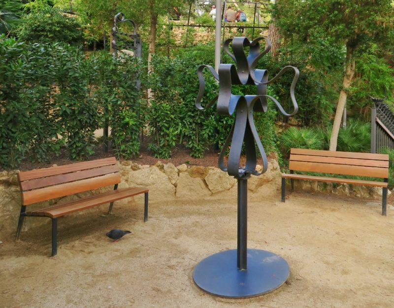 Cross from Miralles Estate Gaudi House Museum Barcelona Spain