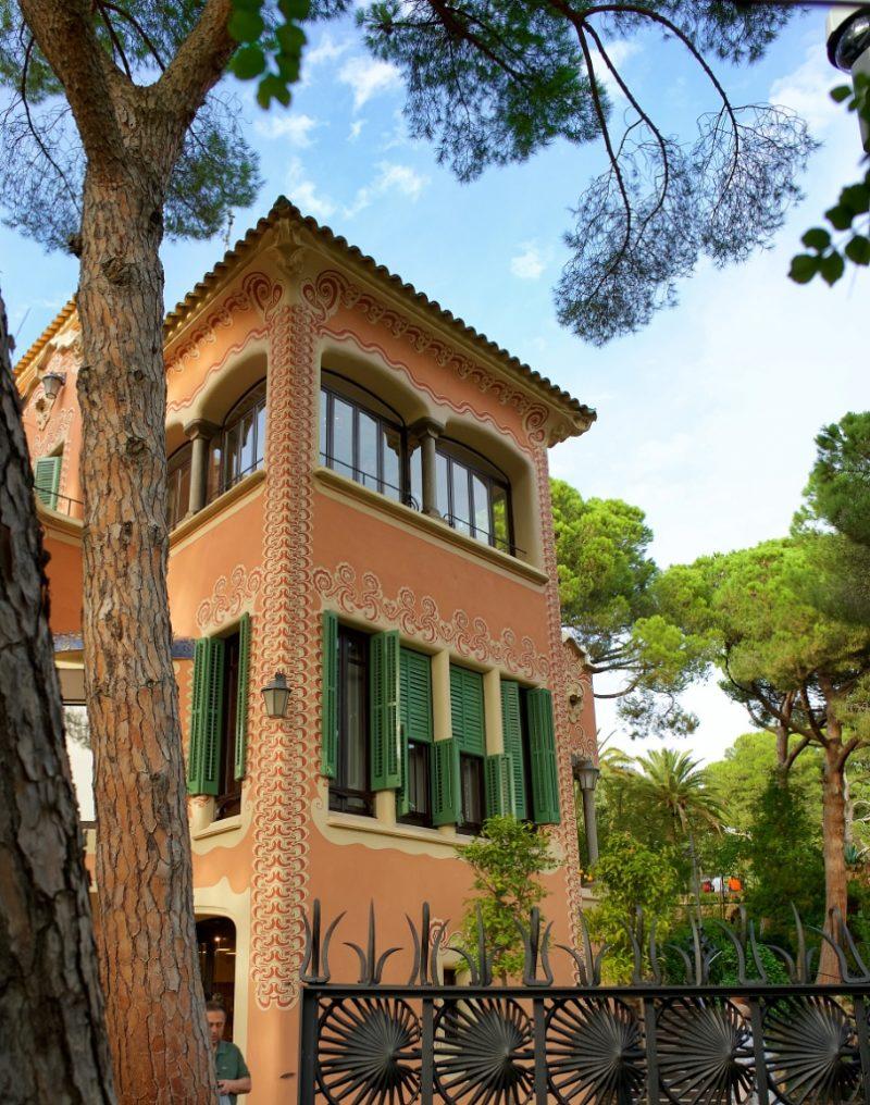 Exterior Gaudi House Museum Barcelona Spain