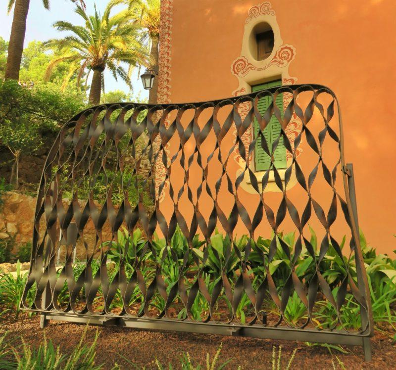 Gate from Casa Mila Gaudi House Museum Barcelona Spain