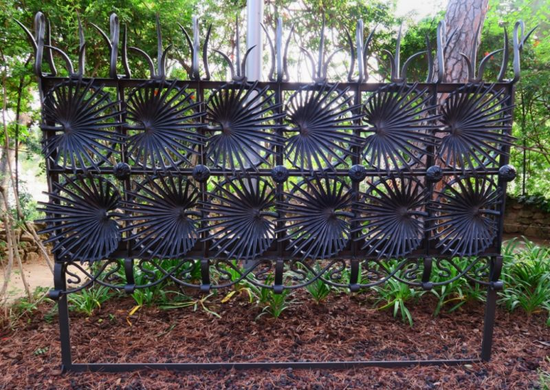 Gate from Casa Vicens Gaudi House Museum Barcelona Spain