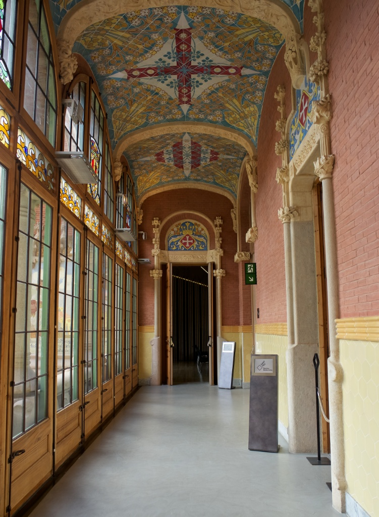 Hallway in Administration Building Sant Pau Art Nouveau Site Barcelona