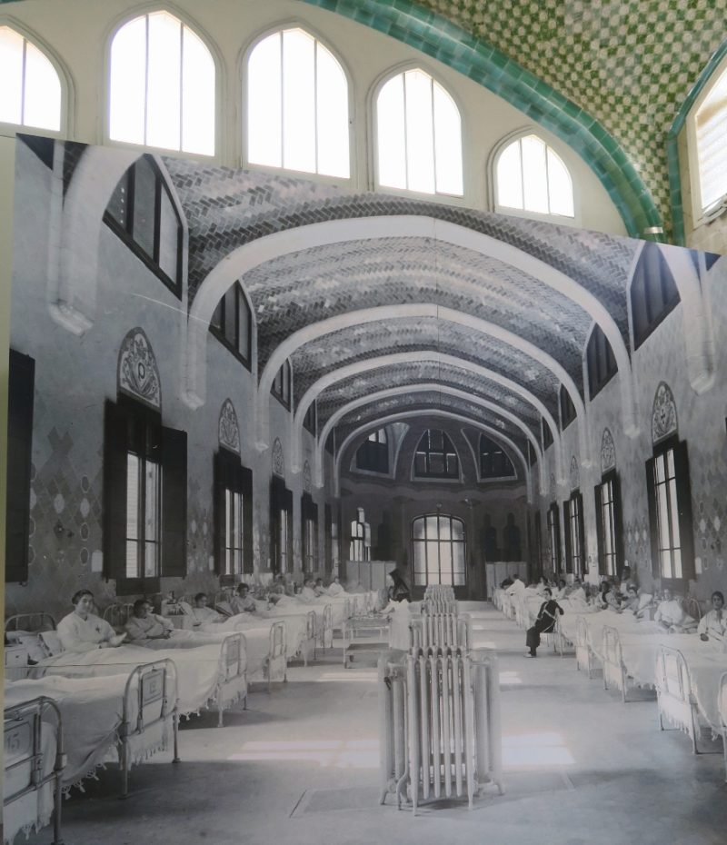 Interior Sant Rafael Pavilion Sant Pau Art Nouveau Site Barcelona