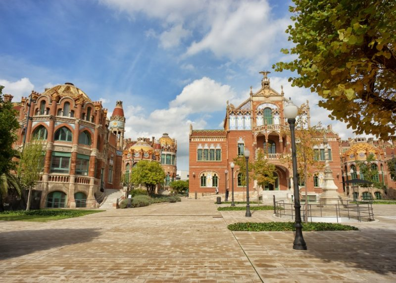 Merce and Operations Pavilions Sant Pau Art Nouveau Site Barcelona