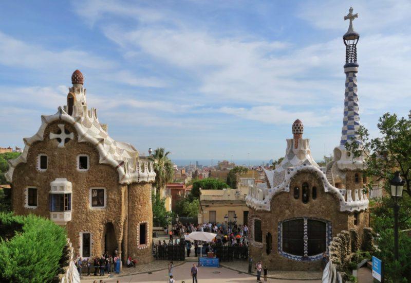 Porters Lodge Pavilions Park Guell Barcelona Spain