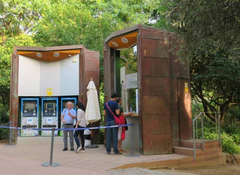 Ticket Kiosk Park Guell Barcelona Spain