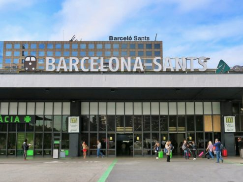 Barcelona Sants Train Station Spain