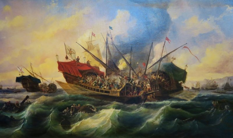Battle of Lepanto by Brugada Barcelona Maritime Museum