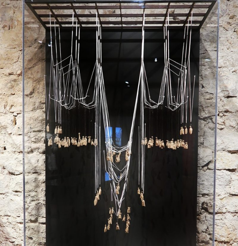 Catenary Arch Model Gaudi Exhibition Center Barcelona Spain