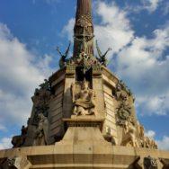 Columbus Tower Monument Barcelona Spain