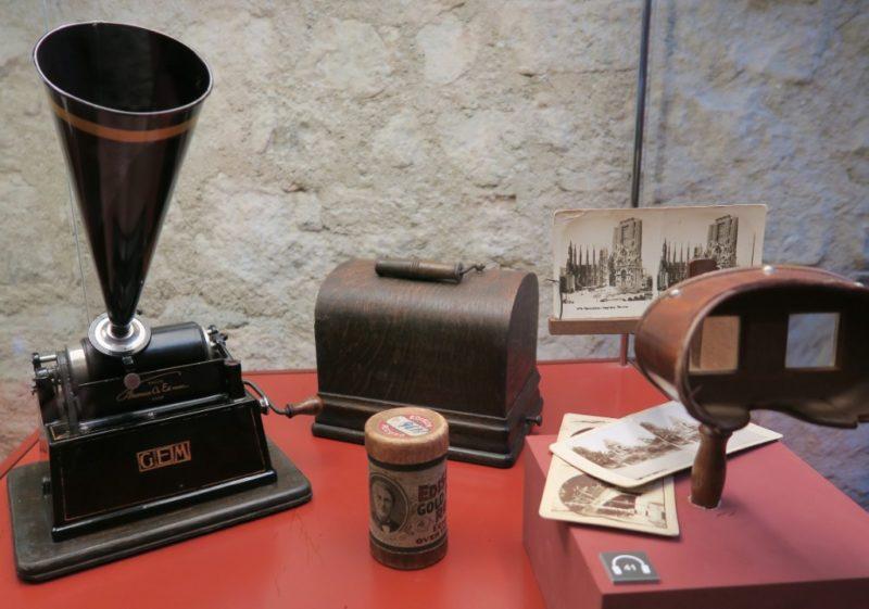 Edison GEM Phonograph Gaudi Exhibition Center Barcelona Spain