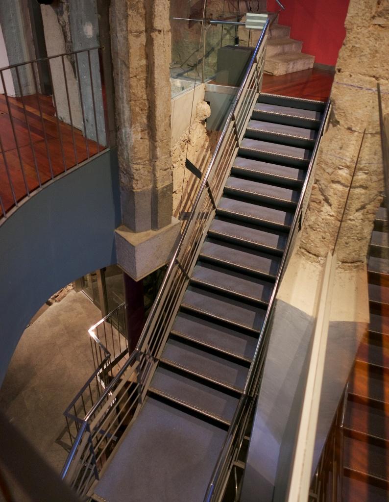 Interior Stairway Gaudi Exhibition Center Barcelona Spain