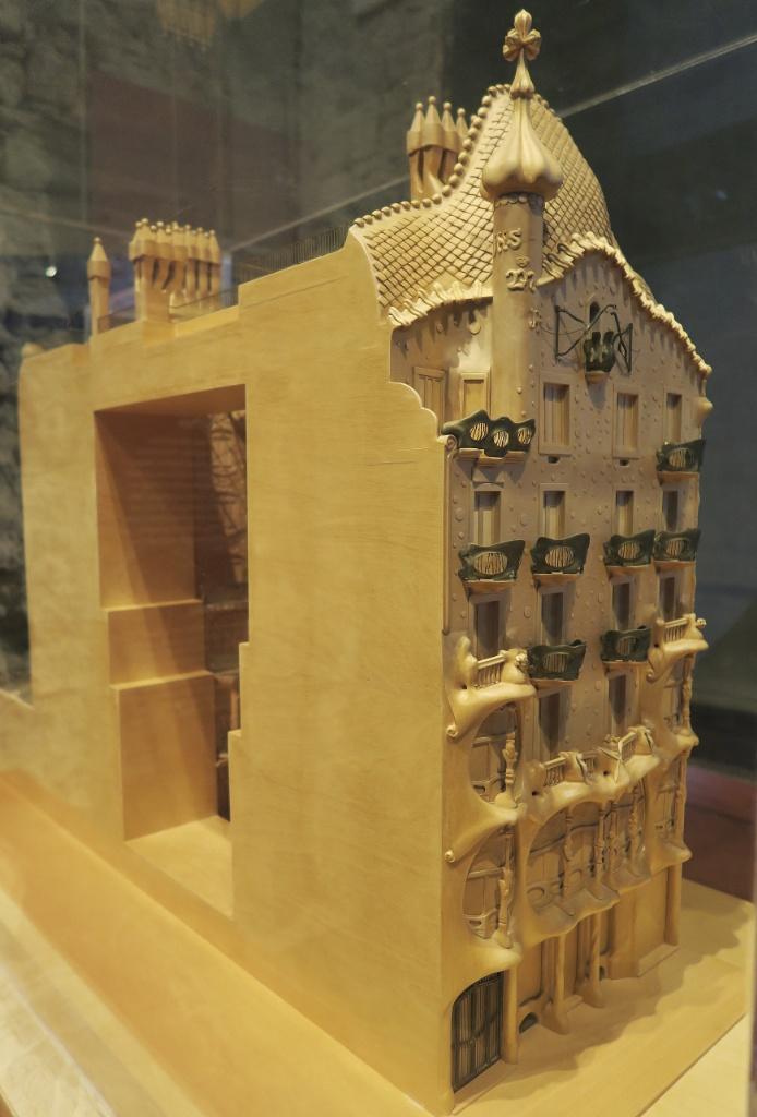 Model of Casa Batlló Gaudi Exhibition Center Barcelona Spain