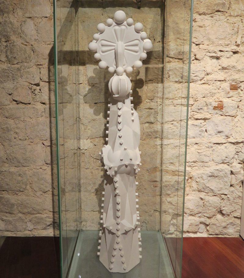 Steeple Pinnacle Gaudi Exhibition Center Barcelona Spain