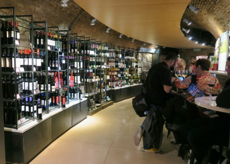 Wine Shop Columbus Tower Monument Barcelona