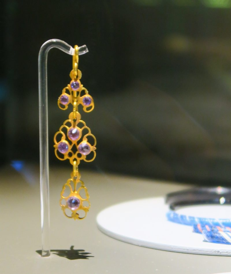 Amethyst and Gold Earring El Born Cultural Center Barcelona