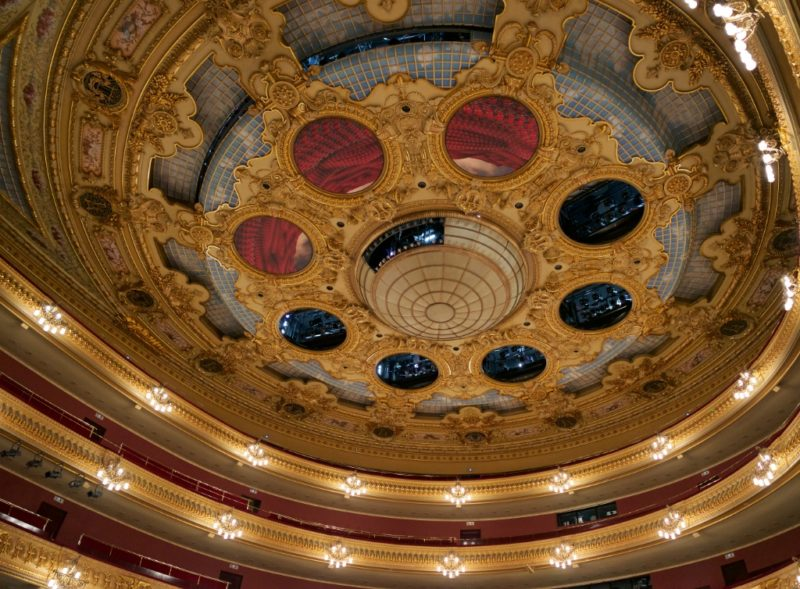 Ceiling Medallions and Stage Lights Gran Teatre del Liceu Barcelona