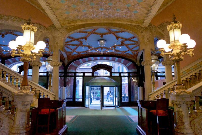 Entrance Palau de la Musica Barcelona