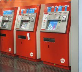 Metro Kiosks Barcelona El Prat Airport