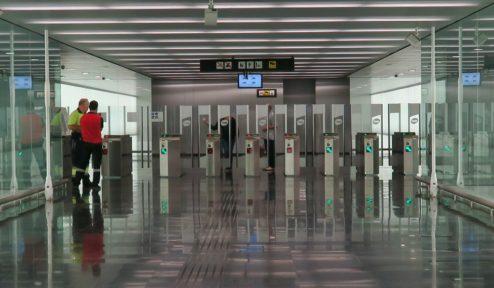 Metro Turnstiles Barcelona El Prat Airport