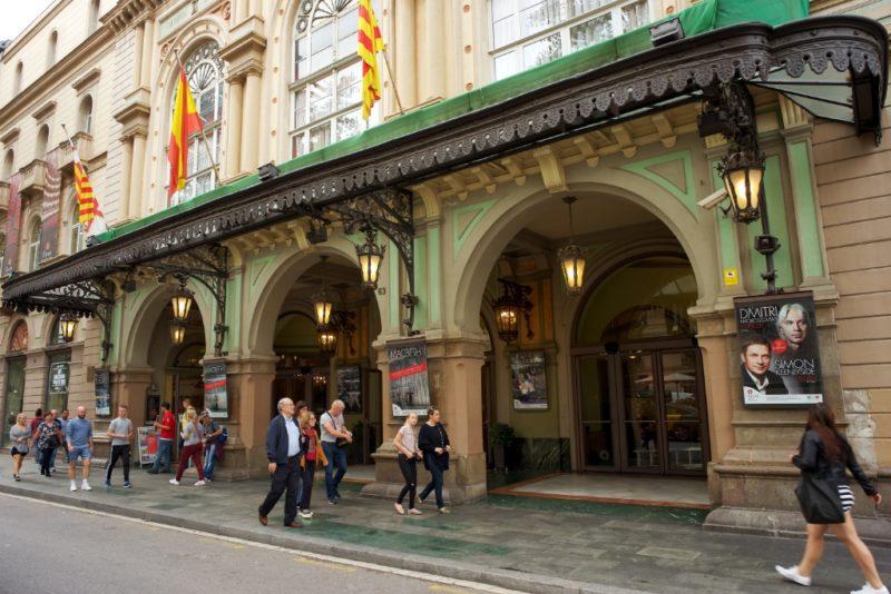 Modest exterior Gran Teatre del Liceu Barcelona