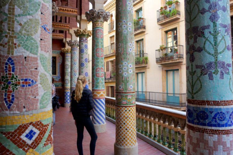 Mosaic Columns Palau de la Musica Barcelona