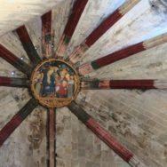 Painted Keystone Basilica of Santa Maria del Mar Barcelona