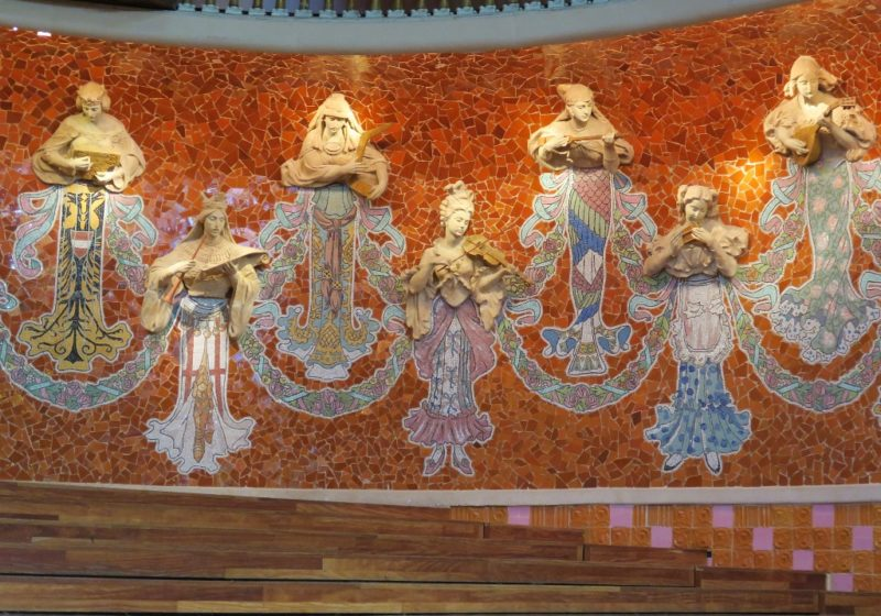 Reliefs of Muses on Stage Palau de la Musica Barcelona