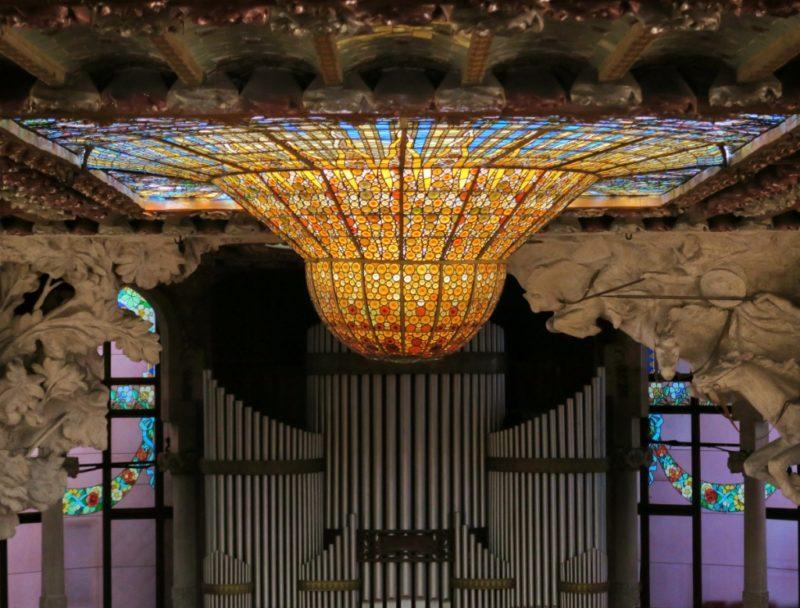 Stained Glass Skylight Palau de la Musica Barcelona
